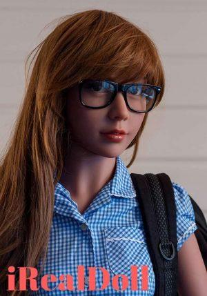 Judy 155cm A Cup Ebony Sex Doll -irealdoll TPE love doll