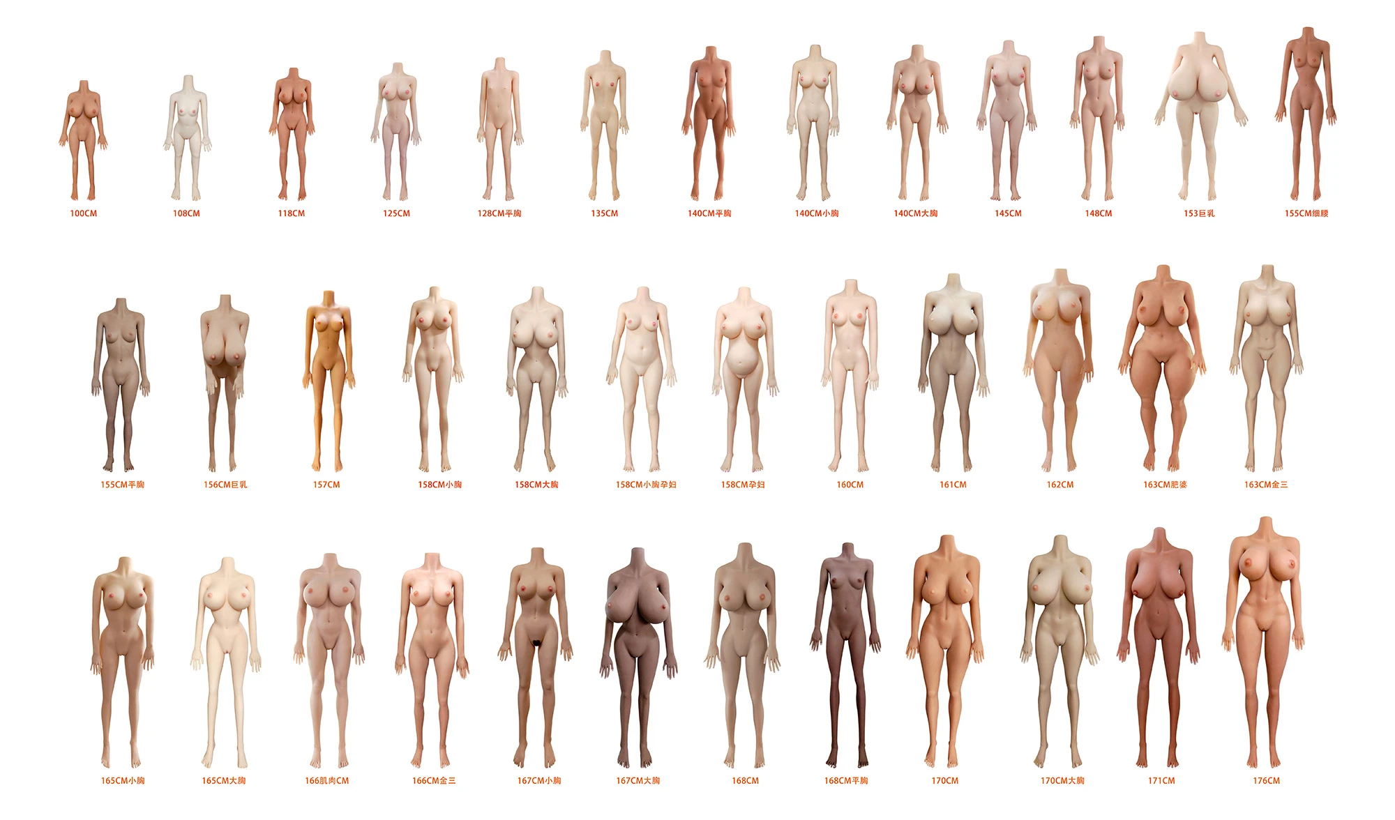 sex doll body types
